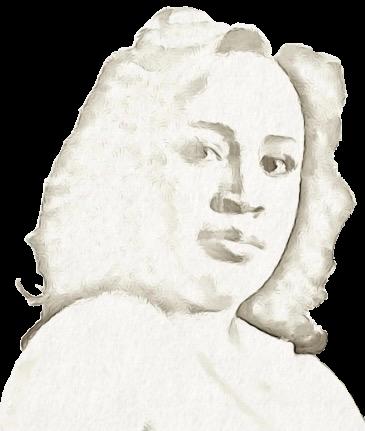 Sepia toned Portrait of Melverna McFarlane